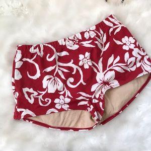 Hawaiian print high waist swimsuit bottoms 10